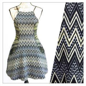 Topshop Aztec Strappy Flippy Dress